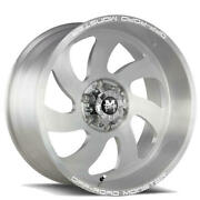 4 24 Off Road Monster Wheels M07 Silver Brushed Face Rims B45