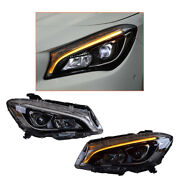 Headlight Assembly For Benz Cla 2014-2019 Led Projector Led Drl Replace Oem