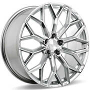4 22 Ace Alloy Wheels Aff03 Liquid Silver With Mirror Machined Face Rimsb45