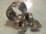 Victorian Figural Napkin Ring With Bear Among The Leaves No Makers Mark