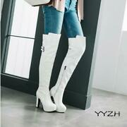 Womens Over The Knee Thigh High Long Boots Ladies Knight Shoes Buckle Block Heel