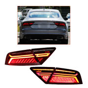 Red Led Tail Light Assembly For Audi A7 2012-2018 Sequential Signal Rear Lamps