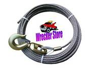 3/8 X 50and039 Wrecker Tow Truck Rollback Carrier Crane Winch Cable W/ Swivel Hook