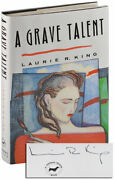 Laurie R. King-a Grave Talent-1993-1st/1st Ed-signed-1st State-f/f Edgar Award