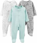 Simple Joys By Carterand039s Baby 3-pack Cotton Footed Sleep And Play