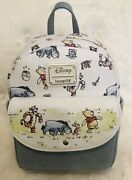 Disney Loungefly Winnie The Pooh And Friends Classic Mini Backpack Nwt Rare