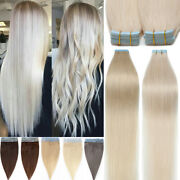 Brazilian Tape In 100 Remy Human Hair Extensions Sticky Thick-glue Skin Weft 8a