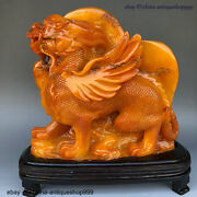 Chinese Shoushan Stone Hand Carved Beast Unicorn Screen Statue Seal Stamp Signet