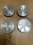 New Vellano Wheels Center Cap Brush Aluminum And Clear Set Of 4 Pcs Size 68.64mm