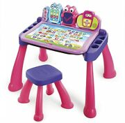 Vtech Touch And Learn Activity Desk Deluxe, Pink Gift Kids, Girls 2 Years And Up