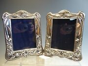 Pair Sterling Silver Art Nouveau Styled Picture Frames