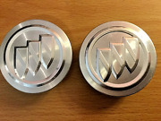 Two 2 Used Buick Silver Raised Emblem Wheel Center Hubcaps P/n 9593169 Parts