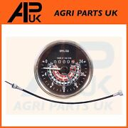 Mph Rev Counter Tachometer + Tacho Drive Cable For Massey Ferguson 35x Tractor