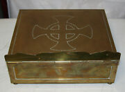 Antique Vintage Large Brass Bible Stand And Box Beautiful