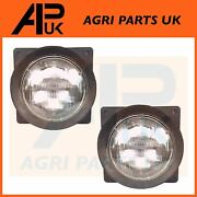 2x Head Light Lamp And Rubber For Case International Ih 685 784 884 885 Xl Tractor