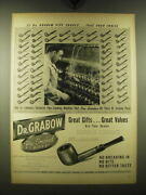 1948 Dr. Grabow Pipes Ad - 57 Dr. Grabow Pipe Shapes.. Take Your Choice