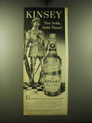 1948 Kinsey Whiskey Ad - Kinsey That Noble Noble Flavor