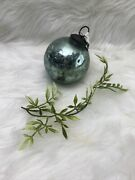 """Exquisite Pottery Barn Large Christmas Mercury Sphere Ornament 4"""""""
