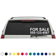 Custom Phone Number For Sale Decal Sticker Car Truck Boat Trailer Suv
