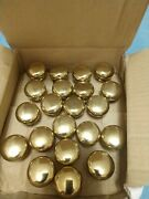 Solid Brass Cabinet Knob Pull Polished Finish 1 1/4 Round With Hardware 45