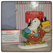 1996 Coca Cola Polar Bear Cubs Bearing Gifts Of Love And Friendship H72961