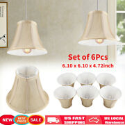 6pcs Vintage Lamp Shades Textured Fabric For Ceiling Chandelier Light Home Decor