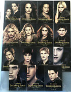 Twilight Breaking Dawn Part 2 Promo Trading Card Set All 15 Complete Comic Con