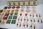 Collection Of Various Paper Beer Coasters Guinness Smithwicks Ale Bar Becks