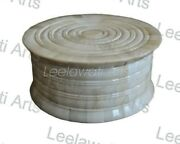 Storage Gifts Boxes Wooden Bone Inlay Round Carving Design Boxes