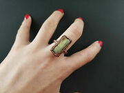 Handmade Electroformed Antique Copper Ring With Labradorite Size 8
