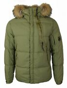 Cp Company Olive Taylon P Down-padded Arm Lens Jacket Rrp Andpound765