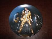 Elvis Presley Collectors Plate Memphis Flash Looking At A Legend Pre-owned