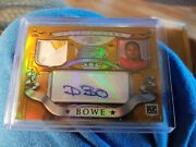 2007 Bowman Sterling Rc Dwayne Bowe 2 Color Jersey Patch Relic Autograph 42/150