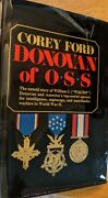 Donovan Of Oss Corey Ford Hcdj 1970 2nd Printing Top Secret Espionage Wwii