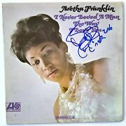 Aretha Franklin Autograph In-person Signed I Never Loved A Man The Way I Love Y