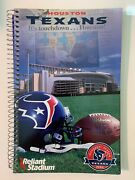 2002 Houston Texans Inaugural Nfl Football Media Guide Binder Type Excellent