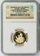 London Olympics Faster - Diana 2010 Great Britain Gold 25 Pounds Pf 70 Uc Ngc
