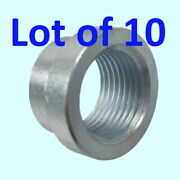 10pcs Exhaust Pipe Base Nut Bung O2 Oxygen Sensor Stainless Steel M18 X 1.5