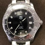 Tag Heuer Link Diamond Dial Sapphire Crystal Stainless Steel Watch Wj1113 39mm