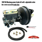 1967-70 Ford Mustang 9 Power Brake Booster W/ Master And Adjustable Prop Valve