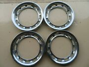 Set Of 4 Oem Mercedes 13 Wheel Trim Rings In Excellent Condition-garage Kept