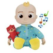 Brand New Cocomelon Musical Bedtime Jj Doll With Plush Tummy Roto Head Sold Out
