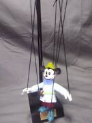 Disney Bob Baker Mickey Mouse Brave Little Tailor Marionette With Stand