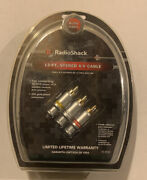 Radio Shack 12 Ft Stereo A/v Cable Nip 15-3022 Higher End Brand New Sealed