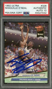 Shaquille Oand039neal Signed 1992-93 Fleer Ultra 328 Rc Rookie Hof Psa/dna 10 Auto