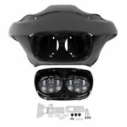 Inner Outer Fairing + 5.75and039and039 Dual Led Headlight For Harley Road Glide Fltr 98-13