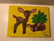 Vintage Sifo Deer Doe Fawn Animals Wooden Puzzle 6 Pieces Children's Toy