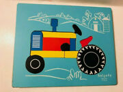 Vintage Holgate Tractor Farm Silo Wooden Puzzle 12 Pieces Childrenand039s Toy