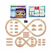 Tiny Conductors 67 Piece Wooden Train Track Set With Train Car 100 Real Wood...