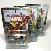 Maisto 2002 Ultimate Marvel Lot Of 3 Iron Man Thor Storm Die-cast Car Toy Figure